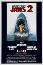Jaws 2 Roy Scheider horror movie poster print