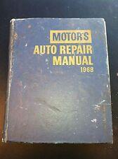1968 MOTORS AUTO REPAIR MANUAL