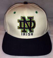 *Rare NEW Notre Dame Irish Flat Bill Adjustable Snapback Cap Official Licensed