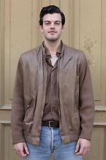 Herren Leder Strick Jacke XL braun jacket 80s brown True VINTAGE men 80er