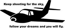 KEEP SHOOTING FOR THE SKY Boys Kid Wall Decal Quote Words Lettering Bedroom