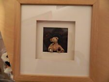 Hand Crafted Bear in 3D Framed Picture