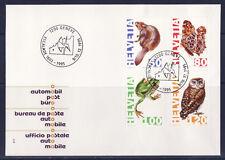 a/ Suisse  enveloppe , 1995 ,  grenouille , papillon , castor , chouette
