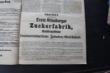 1872 Zeitung  51 / Altenburg Altenburger Zuckerfabrik Reklame