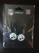 STEELER EARRINGS DANGLE  NFL