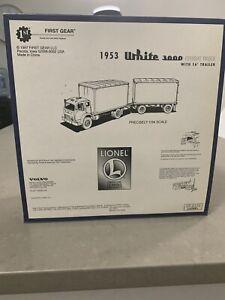 First Gear 1953 White 3000 Lionel Freight Truck W/ 16 In Trailer 19-2151
