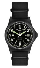 MWC G10LM1224 PVD Military Quartz Watch |50m|12/24hr Dial|Date Window|Luminova