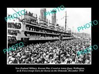 OLD 8x6 HISTORIC PHOTO OF KOREAN WAR NEW ZEALAND TROOPS AT WELLINGTON c1950