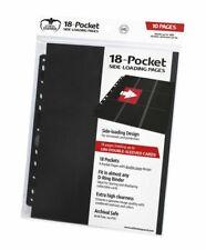 Ultimate Guard - 18-Pocket Pages Side-Loading Black - Cards Cases 9-Pocket