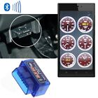 Mini ELM327 v1.5 OBD2 OBDII Bluetooth Adapter Auto Scanner Torque Android