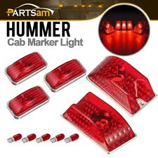 Set/5 Red Roof Top Clearance Cab Marker Lights Red Bulbs for 2003-2009 Hummer H2