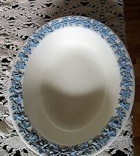 """WEDGWOOD QUEENSWARE 9 3/4"""" OVAL VEGETABLE BOWL**LAVENDER ON CREAM**"""