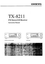 Onkyo Integra TX-8211 Receiver Owners Instruction Manual