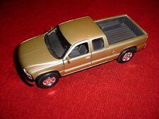 NEW RARE 1998 CHEVROLET SILVERADO 2DR PICKUP TRUCK GOLD SCALE; 1/27 ZYMOL WAXED