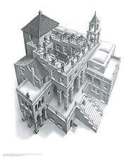 Ascending and Descending M. C. Escher Art Poster Print 21.5x25.5