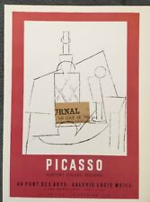 PABLO PICASSO, Vintage,Poster,1957 Offset Lithograph, Exposition Galerie Lucie