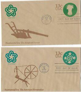 5 '75-'76 FDC Embossed Envelopes Scott# U571 U572 U573 U574 U575 w/Cachet