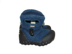 Baby Bogs Size 6 Infants Blue Fleece Rubber Winter Boots With Handles Boy