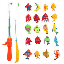 20x Magnetic Fish + 2x Fishing Rod Fun Fishing Game Kids Child Pretend Play Toy