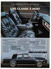 1984 CHRYSLER Fifth Avenue Vintage Original Print AD - Luxury interior car photo