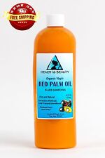 """PALM OIL """"RED"""" EXTRA VIRGIN UNREFINED ORGANIC CARRIER COLD PRESSED PURE 16 OZ"""