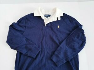 VINTAGE POLO RALPH LAUREN Mens LONG SLEEVE POLO Rugby Shirt Size medium M