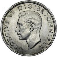 1938 HALFCROWN - GEORGE VI BRITISH SILVER COIN - SUPERB