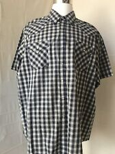 Big mans Plains western wear Pearl Snap short sleeve shirt 2XL- A55