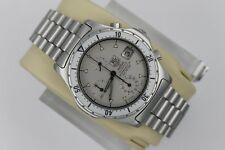 Tag Heuer 2000 GRAY SILVER 272.006 Professional Watch Mens Chronograph Rare