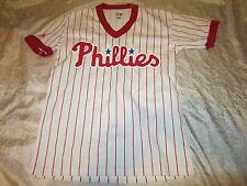 Philadelphia Phillies Majestic Red Pinstripe Youth Large Jersey SGA