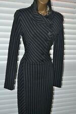 ~ ISABEL DE PEDRO ~ Designer Wool Stripe Dress Size 10 - 12 Work Office Business