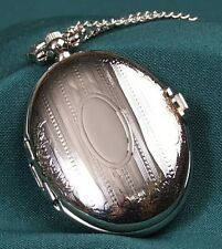 Gorgeous Ladies Silver Plated Locket Watch + Chain