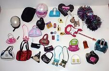 BRATZ BIG LOT OF ACCESSORIES HELMET BAGS CELL PHONE MAKE UP & MORE LOOK