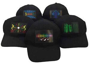 1x LED-CAP PARTY MÜTZE DJ DISCO Soundsensitve Partycap Equalizer Geschenkidee
