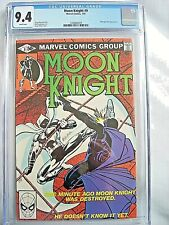 Marvel MOON KNIGHT #9 CGC 9.4 NM White Pages Bill Sienkiewicz 1981