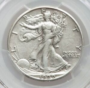1929-S PCGS XF Details Better Date Walking Liberty Silver Half Dollar Extra Fine