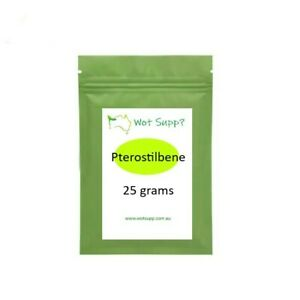 Pterostilbene 25gm Powder  FREE POSTAGE Oz Store Better than Resveratrol