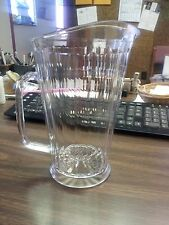 (ONE) PITCHERS 60 oz CLEAR ELEGANT HARD PLASTIC BEER/BEVERAGE TAPERED PANELED