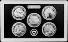 2017 Enhanced Uncirculated Quarters 5 Coins Sealed in Lens SOLD OUT US MINT !