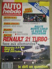 AUTO HEBDO: n°606: 06/01/1988: BMW M3 - MERCEDES 2.3-16S - AUDI 200 - R21 TURBO