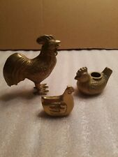 Vintage Brass Roosters. Lot Of (3).