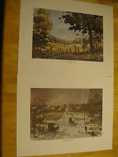 2 Omer Seamon Prints Salem Scottsburg Indiana Courthouse Washington Scott Pigeon