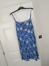 BNWT DOROTHY PERKINS SIZE 20 TALL CURVE BLUE WHITE FLORAL STRETCH SUN VEST DRESS
