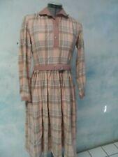 OSCAR DE LA RENTA vtg RETRO wool LOLITA belted DRESS sz S