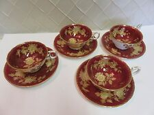 Wedgwood Ruby Tonquin Cup w Saucer Rare Near Mint Condition!! 1950s 4 avail