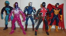 Marvel Legends Lot -- Citizen V, Union Jack, Nighthawk, Rock Python, Living Lase