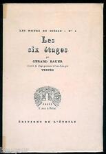 Gérard BAUER Marcel VERTES Les 6 Etages 1925 1/400 vélin de Rives 20 eaux-fortes