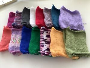 """30 X Hand Knitted Squares 6"""" X 6"""""""