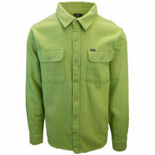 OBEY Men's Spring Green White L/S Flannel Shirt (S02)