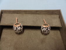 Welsh Clogau Silver & Rose Gold Am Byth Drop Earrings RRP £219
